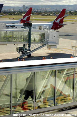Glass aerobridges were installed at Adelaide International Airport in June 2007, and at least one more is planned.