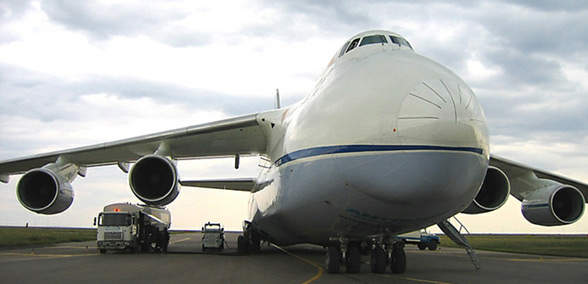 Astana Airport is designed to handle large capacity wide-body aircraft such as the AN-124.