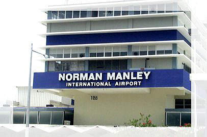 Norman Manley International Airport in Kingston, Jamaica.