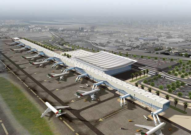 The new expansion programme of the Dubai International Airport (Phase 2) includes the construction of Terminal 3, concourse 2 and concourse 3, and a Mega Cargo Terminal.