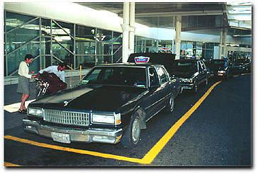 Taxi rank at Ottawa International Airport.