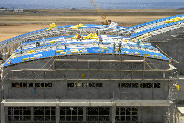 Construction of the terminal building started in 2011. Image courtesy of International Airport Development Company Limited.