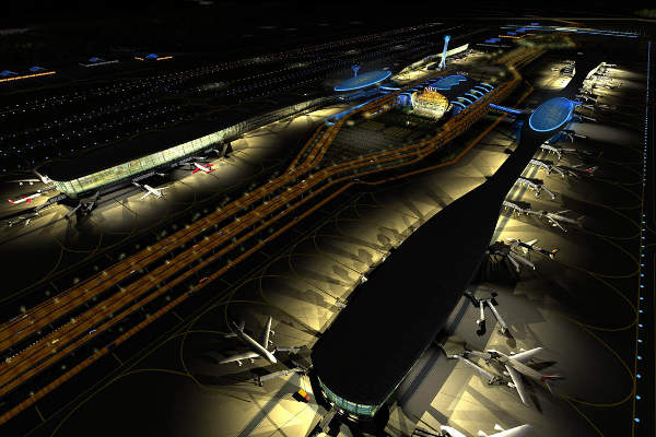 Navi Mumbai International Airport (NMIA) will have a capacity of 60 million passengers a year, upon completion. Credit: Louis Berger.