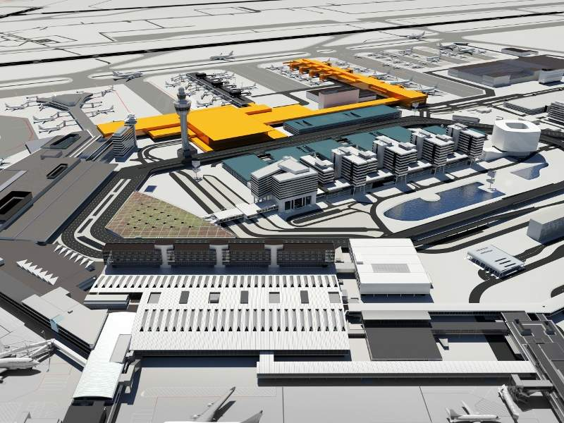 The new terminal at Amsterdam Airport Schiphol will become operational in 2023. Credit: Schiphol.