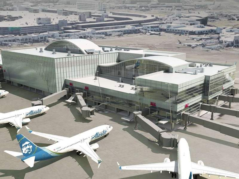 A Sustainable Airport Master Plan has been proposed at Seattle-Tacoma international airport to meet anticipated passenger and air traffic growth. Image: courtesy of Port of Seattle.