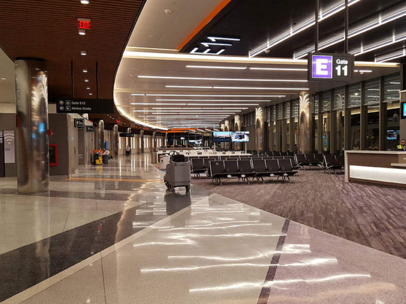 Boston-Logan airport's Terminal E expansion added three new gates at the airport. Image courtesy of Arora Engineers, Inc.