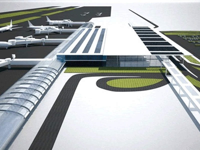 An artist's rendering of Kastelli International Airport being built in Greece. Image courtesy of Indo-Hellenic Society for Culture and Development.
