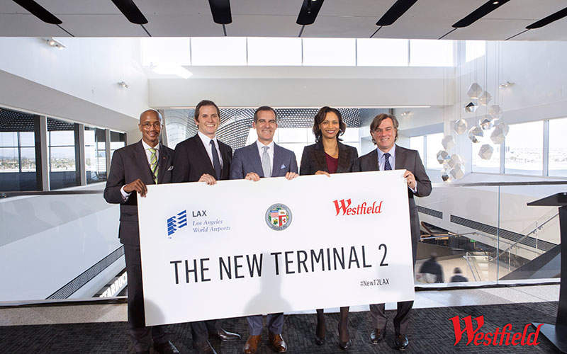 LAX International Airport unveiled the renovated Terminal 2 in January 2016. Image courtesy of Westfield.