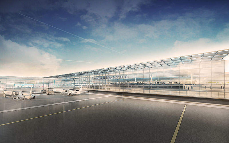 Manchester Airport's £1bn transformation programme will expand the airport's capacity by 50%. Image courtesy of the Manchester Airports Group plc.