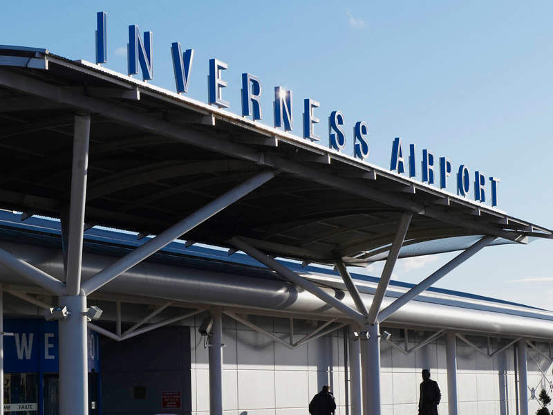 Inverness International Airport is the gateway to Highlands of Scotland. Image courtesy of Highlands and Islands Airports Ltd (HIAL).