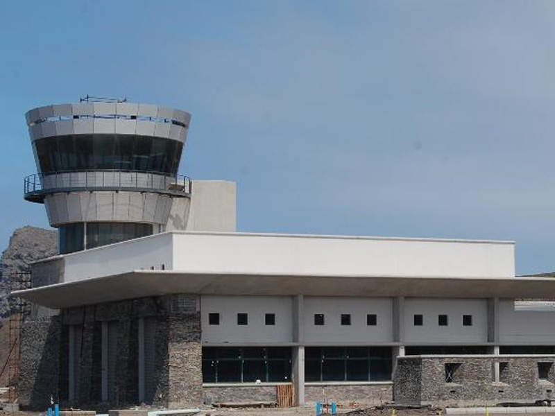 St Helena Airport features a common building for airport operations support. Image courtesy of SHG Access Office.