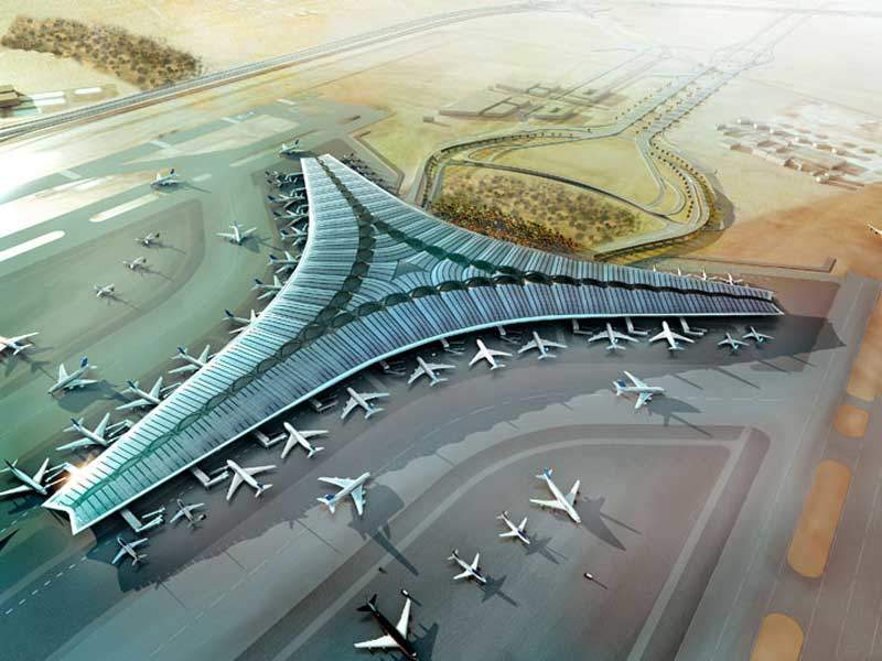 The new terminal at Kuwait International Airport will initially accommodate 13 million passengers a year. Credit: Directorate General of Civil Aviation, State of Kuwait.