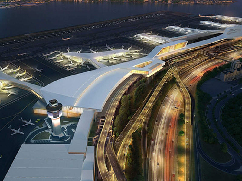 LaGuardia Airport began the construction of a new state-of-the-art terminal in June 2016. Image: courtesy of State of New York.