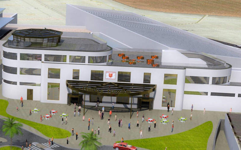 The development project at Jersey International Airport includes the construction of a new arrivals building. Image courtesy of Ports of Jersey.