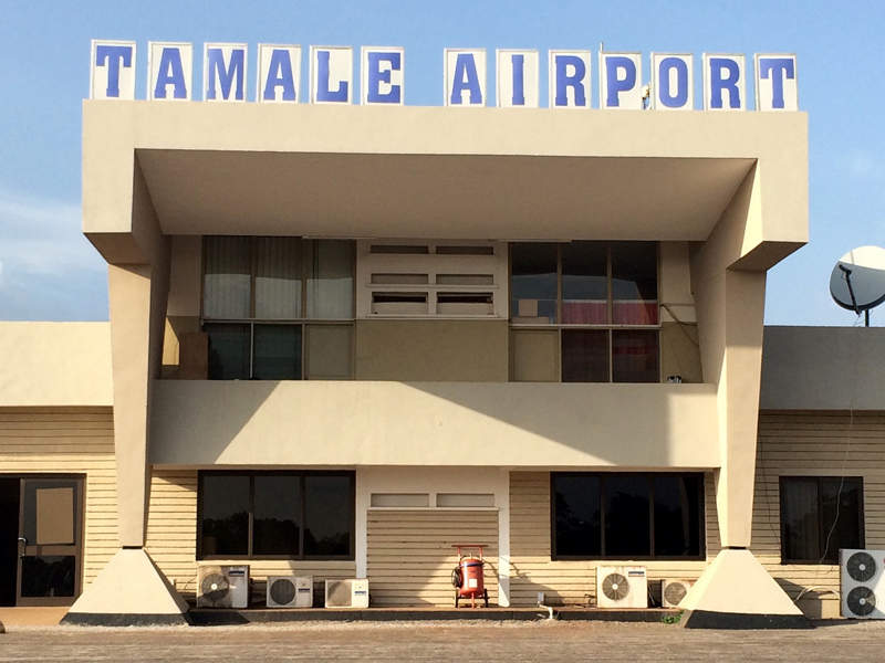 Tamale Airport supports both public and military operations. Image courtesy of Rachel Strohm.