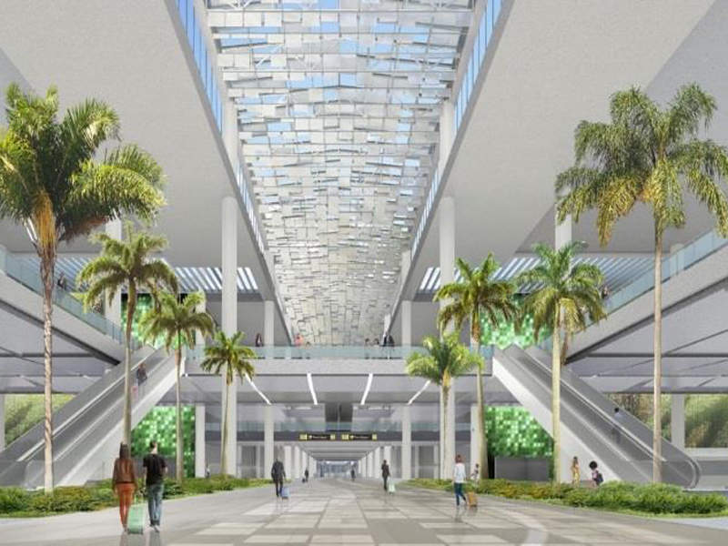 The new South Terminal Complex will reduce operational stress on the existing North Terminal Complex. Image courtesy of Greater Orlando Aviation Authority.