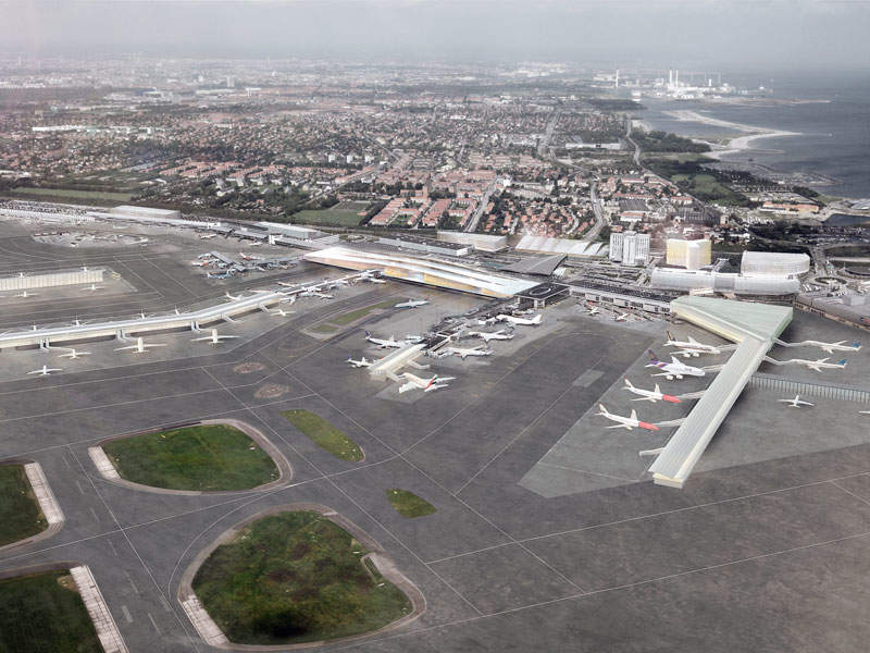 The expansion of the Copenhagen Airport will add new aircraft stands and gates to accommodate larger aircraft. Image courtesy of Københavns Lufthavne A/S.