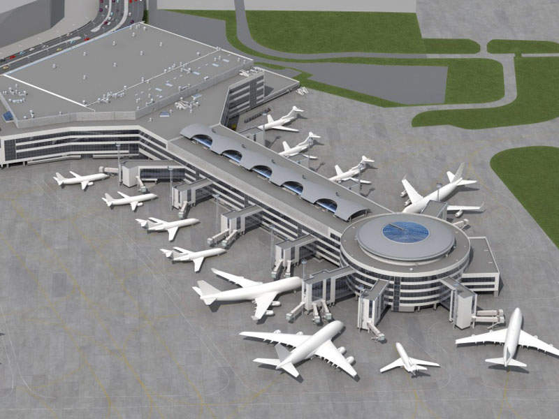 Terminal 2 at Domodedovo International airport will be ready by 2018. Image courtesy of Antteq.