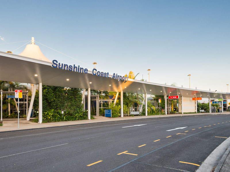 Sunshine Coast Airport received international status in 2016. Image courtesy of Sunshine Coast Regional Council.