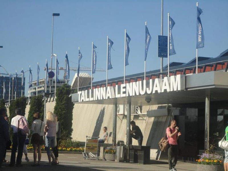 Tallinn airport is the biggest airport in Estonia. Image courtesy of Bill william Compton.