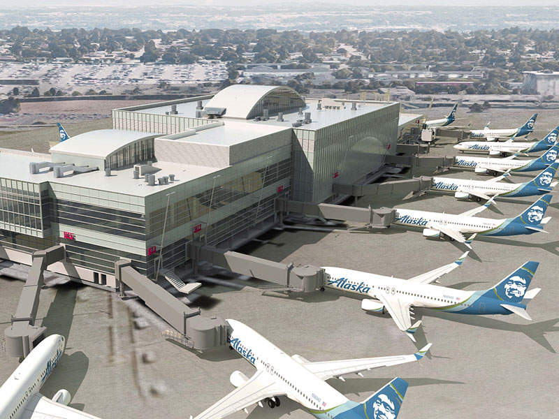 The North Satellite expansion will add eight new gates to the terminal. Image courtesy of Port of Seattle.