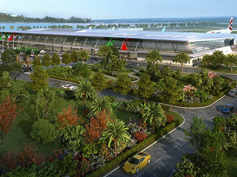 The new passenger terminal construction at Bermuda airport will be completed in 2020. Image courtesy of Government of Bermuda.