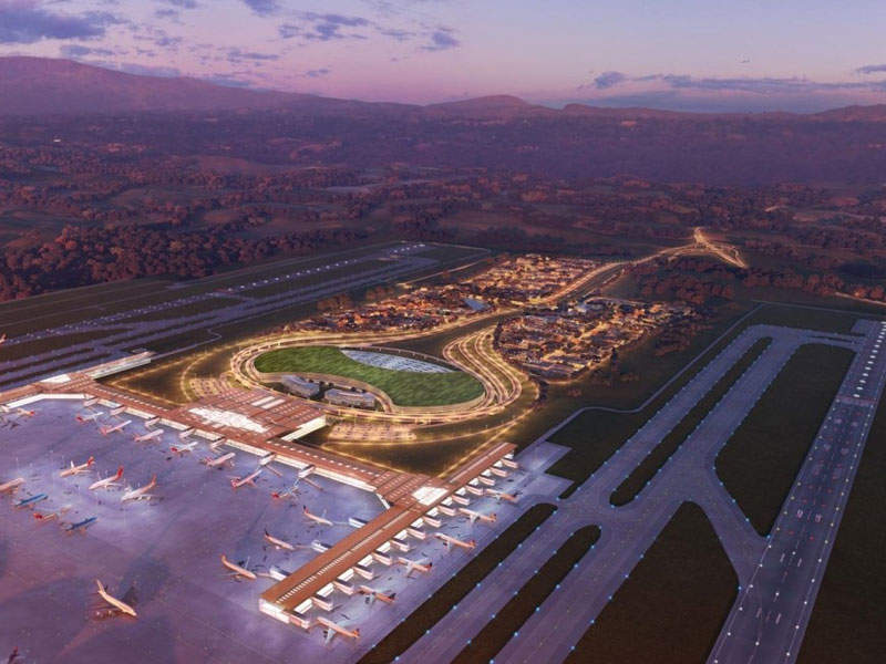 Artist's rendering of Orotina Metropolitan International Airport.