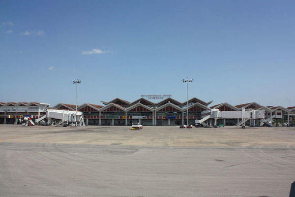 The Moi International Airport has two passenger terminals. Image courtesy of Hansbaer.