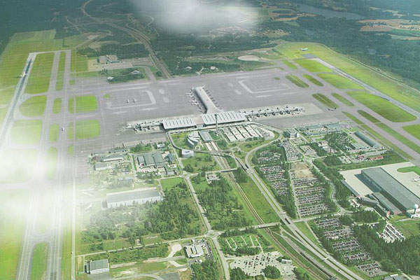 Terminal 2 of Oslo Airport integrates with Terminal 1.