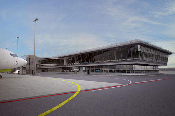 Riga International Airport began the fifth round of terminal expansion project in 2014.  Image courtesy of Riga International Airport.