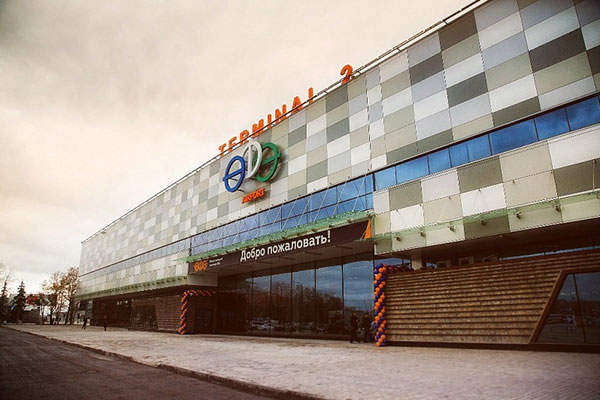 The reconstructed international terminal (Terminal 2) at the Ufa Airport. Image: courtesy of Ufa International Airport.