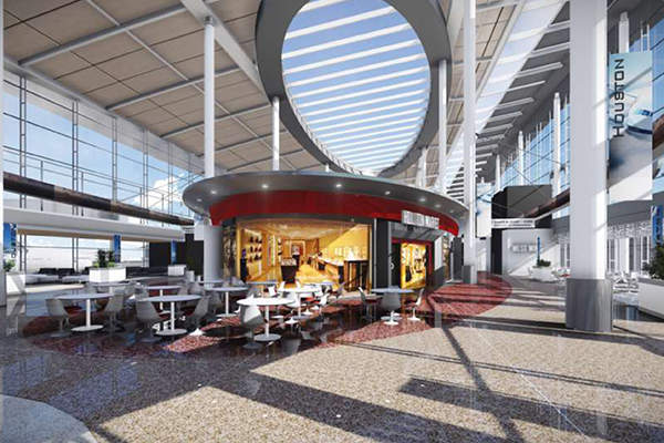 The new Terminal D at the airport will be constructed by demolishing the existing terminal. Image: courtesy of Houston Airport System.