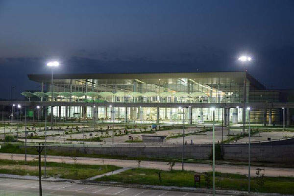 Chandigarh Airport commissioned a new international terminal in September 2015.  Photo courtesy of Airports Authority of India.