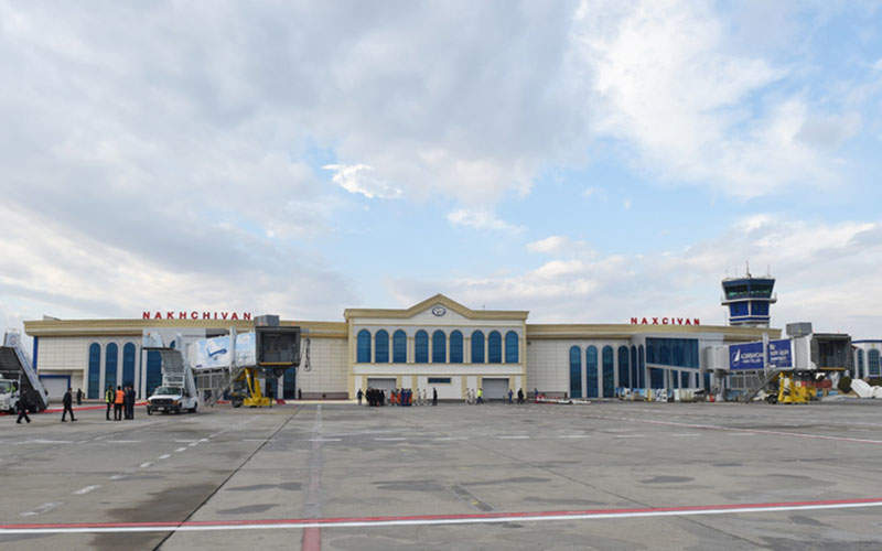 Nakhchivan International Airport is the only airport to enter the Nakhchivan Autonomous Republic. Image courtesy of President of the Republic of Azerbaijan.