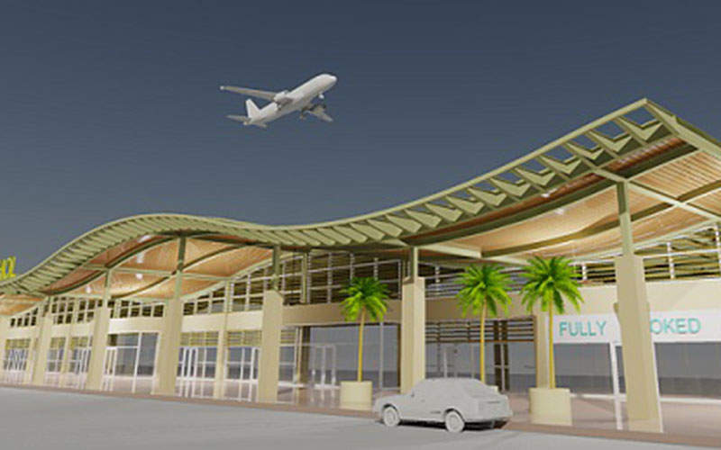 The New Bohol Airport is constructed on Panglao Island, Bohol Province. Credit: Mitsubishi Corporation.