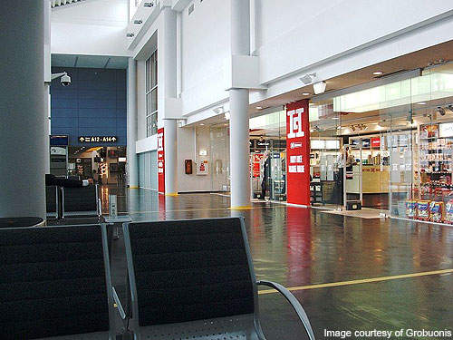 Duty free shop at Vilnius airport.