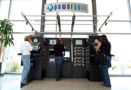 The stations provide internet access, laptop rentals, battery and cell phone chargers, USB ports for uploading files, music downloads and free printing services.