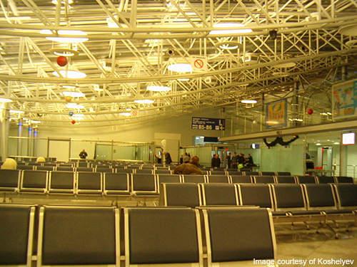 Terminal B departures hall.