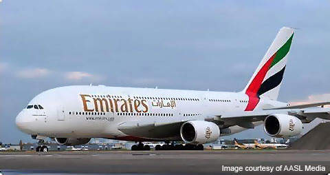 The Emirates Airlines Airbus A380 (superjumbo) aircraft uses the airport as an emergency / medical alternative.