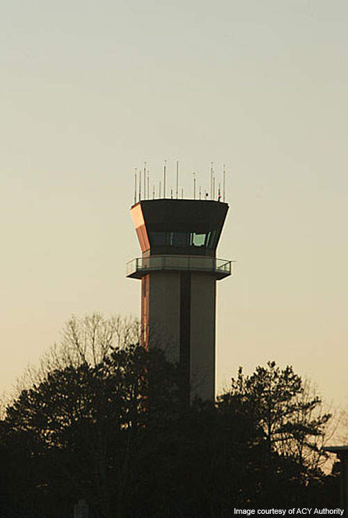 Atlantic City International Airport's control tower.