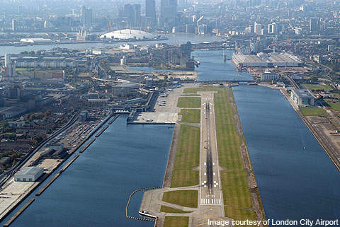 London City Airport has a single runway measuring 1,199m in length.