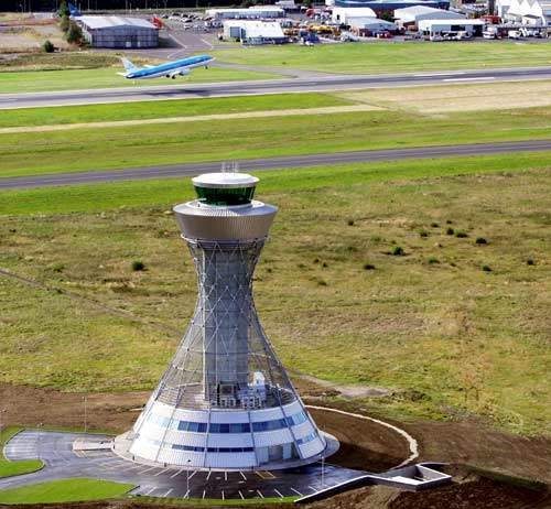 Newcastle International's new £8.2m air traffic control tower.