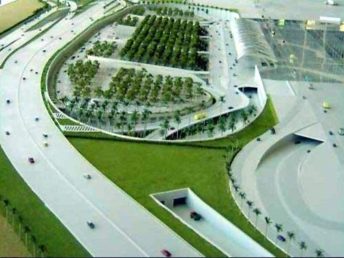Rajiv Gandhi International Airport access and road infrastructure.