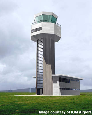 The new 35.3m ATC tower.