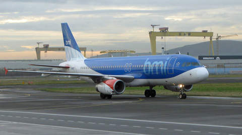 Belfast City Airport adjoins premises of former owner Bombardier and the landmark Harland and Wolff shipyard.
