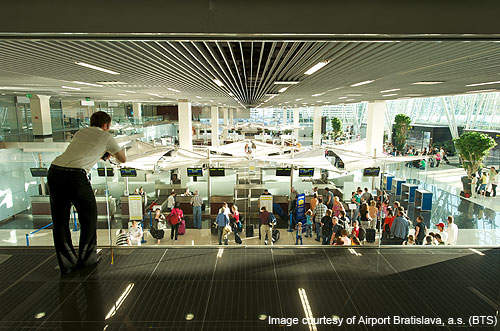 The airport handled 16.6 million passengers in 2010.