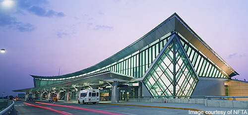 The façade of Buffalo Niagara International Airport.