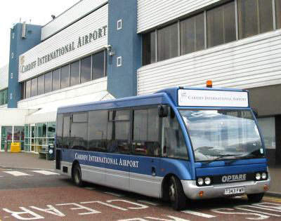 Cardiff Airport terminal has good transport infrastructure with a railway station close by and excellent bus route cover.