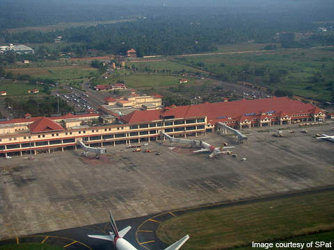 Aerial view of Cochin International Airport.