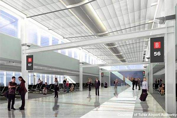Concourse work rendering at Tulsa International.